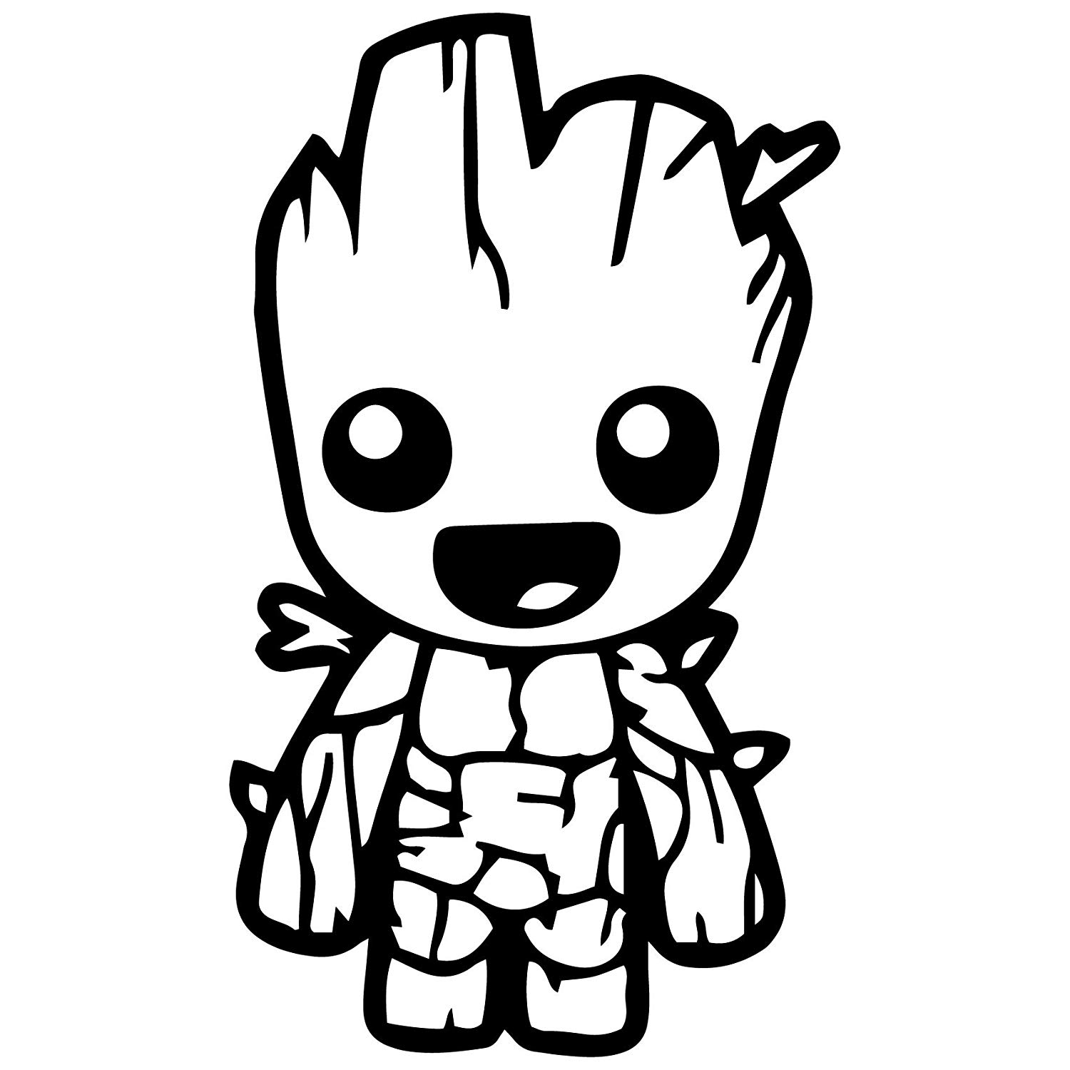 Guardians of the galaxy clipart black and white clip transparent stock Guardians Of The Galaxy – Groot.: Amazon.co.uk: Car & Motorbike clip transparent stock