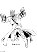 Guardians of the galaxy clipart black and white image transparent stock Guardians of the Galaxy coloring pages | Free Coloring Pages image transparent stock
