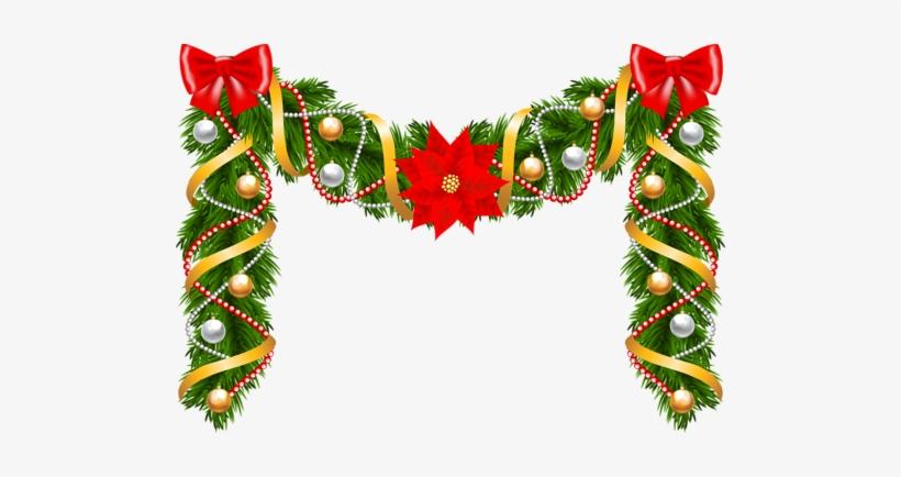 Guirnalda navidena clipart vector free library Marcos, Navidad, Guirnaldas De Navidad, Diseño De Navidad, - Garland ... vector free library