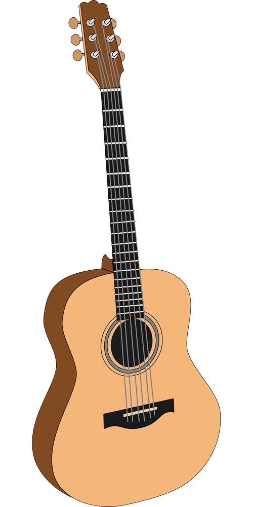 Guitar clipart acoustic and electric picture black and white download Acoustic guitar Electric guitar Clip art - Pale yellow guitar png ... picture black and white download