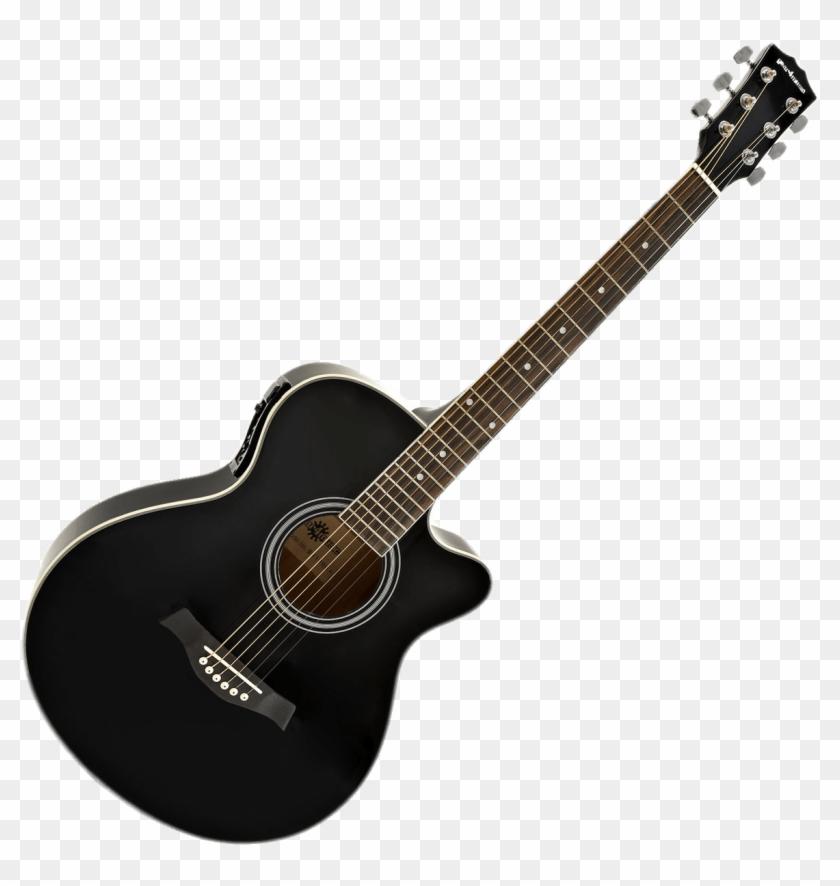 Guitar hd clipart clipart royalty free Black Acoustic Electric Guitar - Black Cutaway Acoustic Guitar, HD ... clipart royalty free