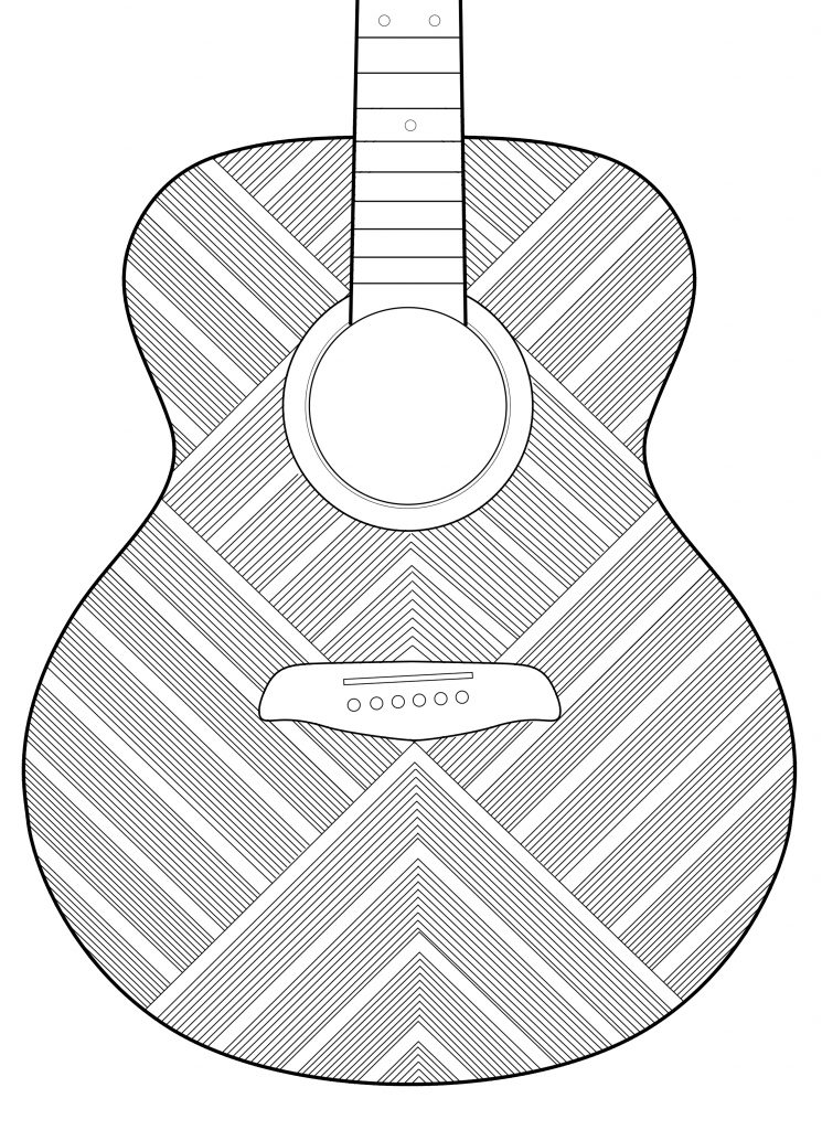Guitar headstock drawing clipart black and white image transparent download Guitar Neck Drawing at PaintingValley.com | Explore collection of ... image transparent download