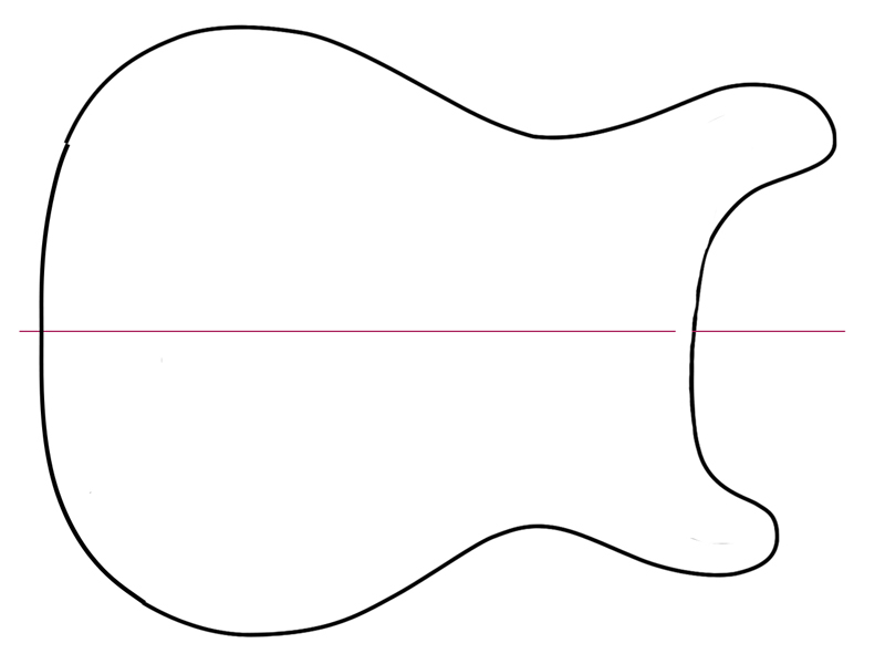 Guitar headstock drawing clipart black and white clipart royalty free library Free Guitar Outline Cliparts, Download Free Clip Art, Free Clip Art ... clipart royalty free library