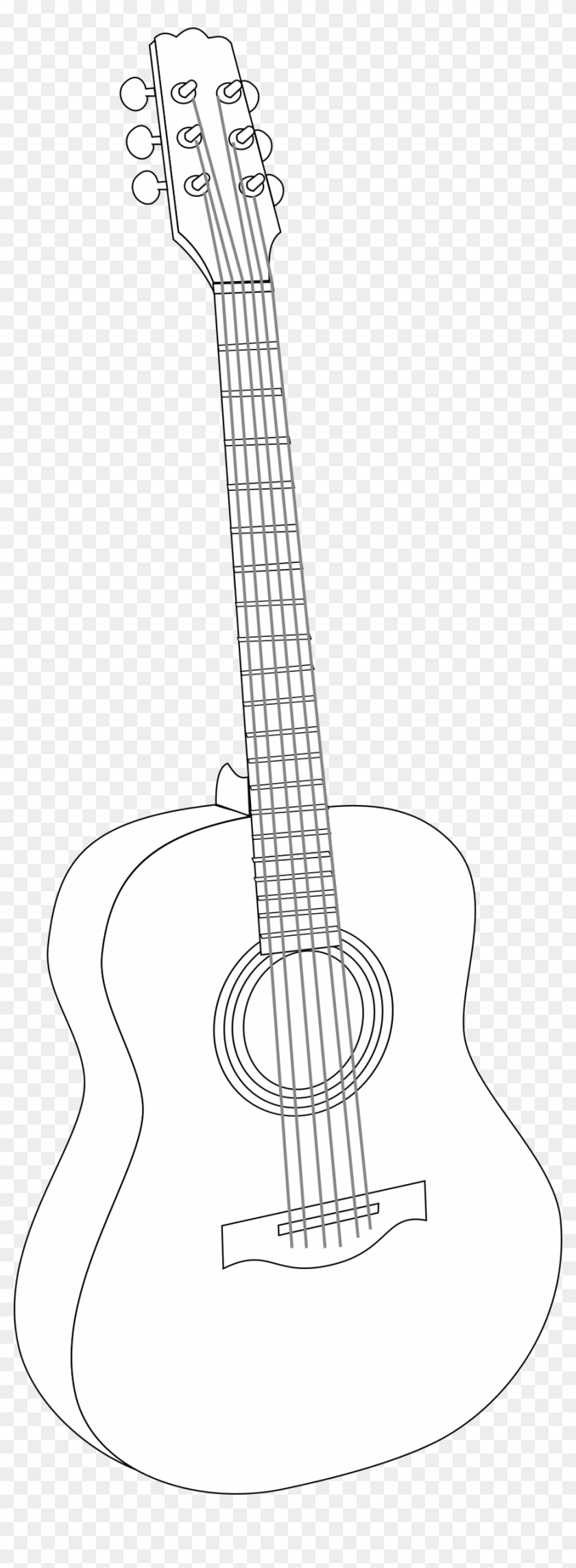 Guitar headstock drawing clipart black and white clip transparent Acoustic Guitar - Clipart - Acoustic Guitar Head Outline, HD Png ... clip transparent