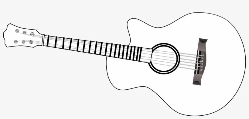 Guitar image clipart free black and white banner black and white stock Guitar Outline Clip Art Black And White - Guitar Transparent PNG ... banner black and white stock