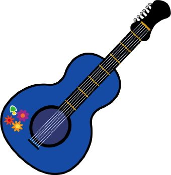 Guitar images free clipart png black and white stock Guitar Clip Art | Home: Summer of Love | Guitar, Purple guitar, Music png black and white stock