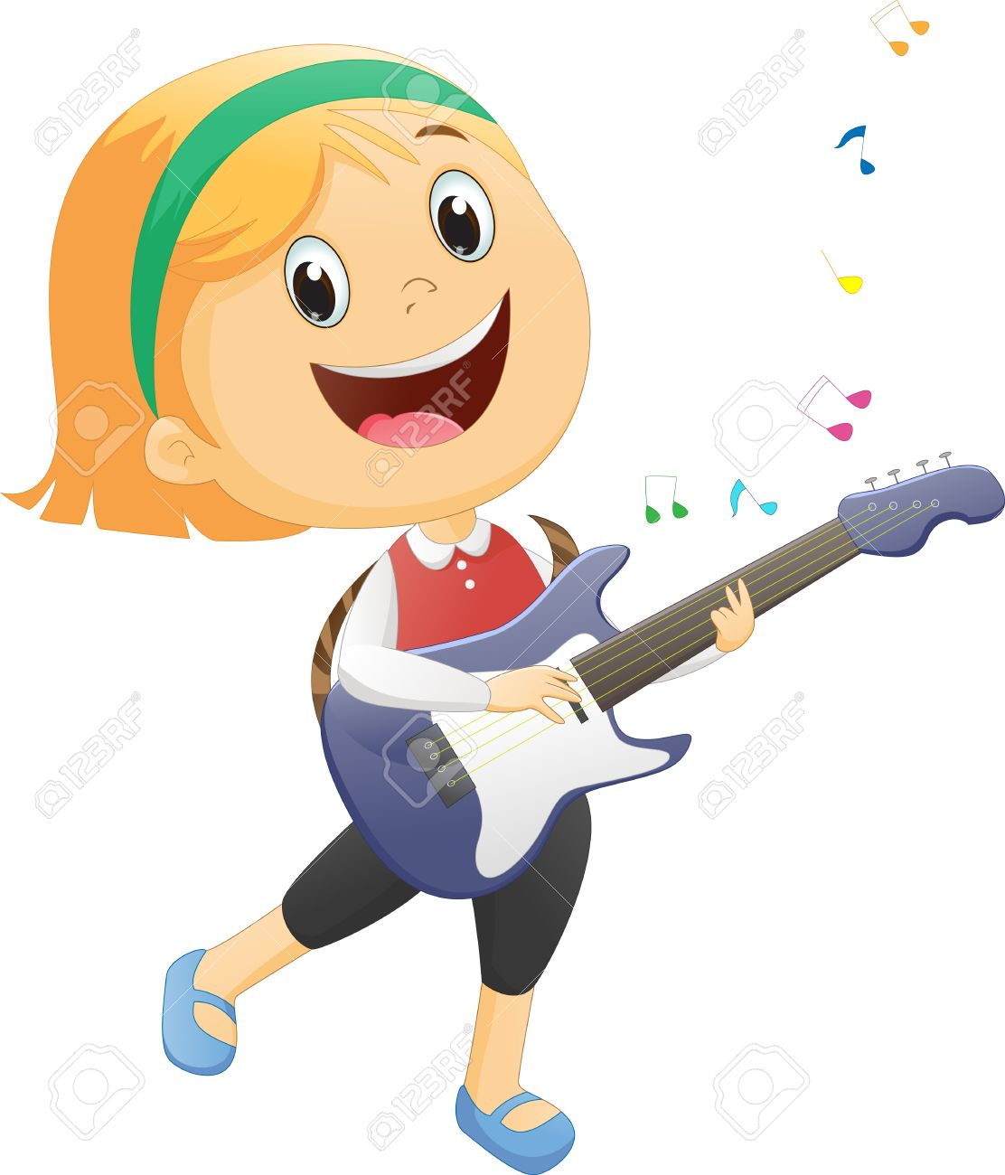 Guitar playing clipart banner freeuse stock Girl playing guitar clipart 8 » Clipart Station banner freeuse stock