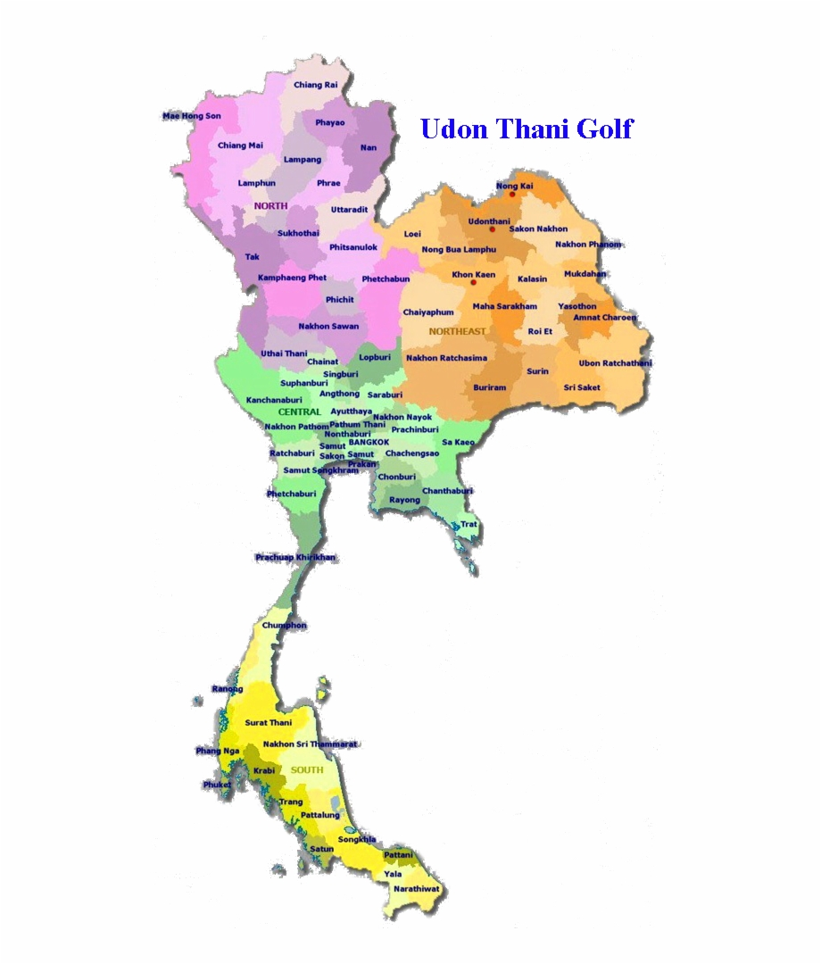 Gulf province clipart map png free library Provincial Map Of Thailand - Thailand Map And Provinces Free PNG ... png free library