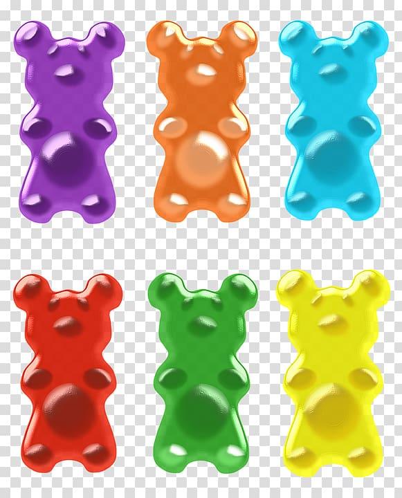 Gummy bears clipart banner black and white Gummy bear Gummi candy , bears transparent background PNG clipart ... banner black and white