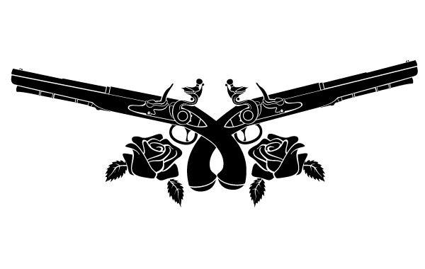 Guns and roses clipart svg black and white guns n roses logo vector – Item 3   Vinyl SVG Files   Guns, roses ... svg black and white