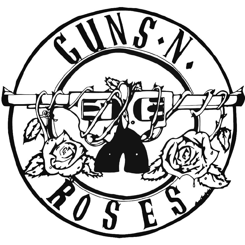Guns and roses logo vector clipart graphic library library Guns N Roses Rock Band Logo Vinyl Decal Sticker BallzBeatz . com ... graphic library library
