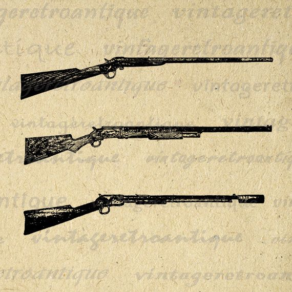 Guns in the 1800s clipart clipart free download Antique Guns Printable Digital Download Rifle Illustration Graphic ... clipart free download