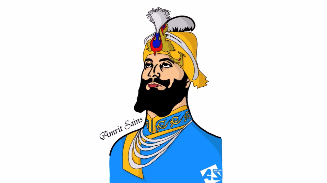 Guru gobind singh clipart png transparent stock Sri Guru Gobind Singh Ji | Speed Art | Vector Illustration png transparent stock