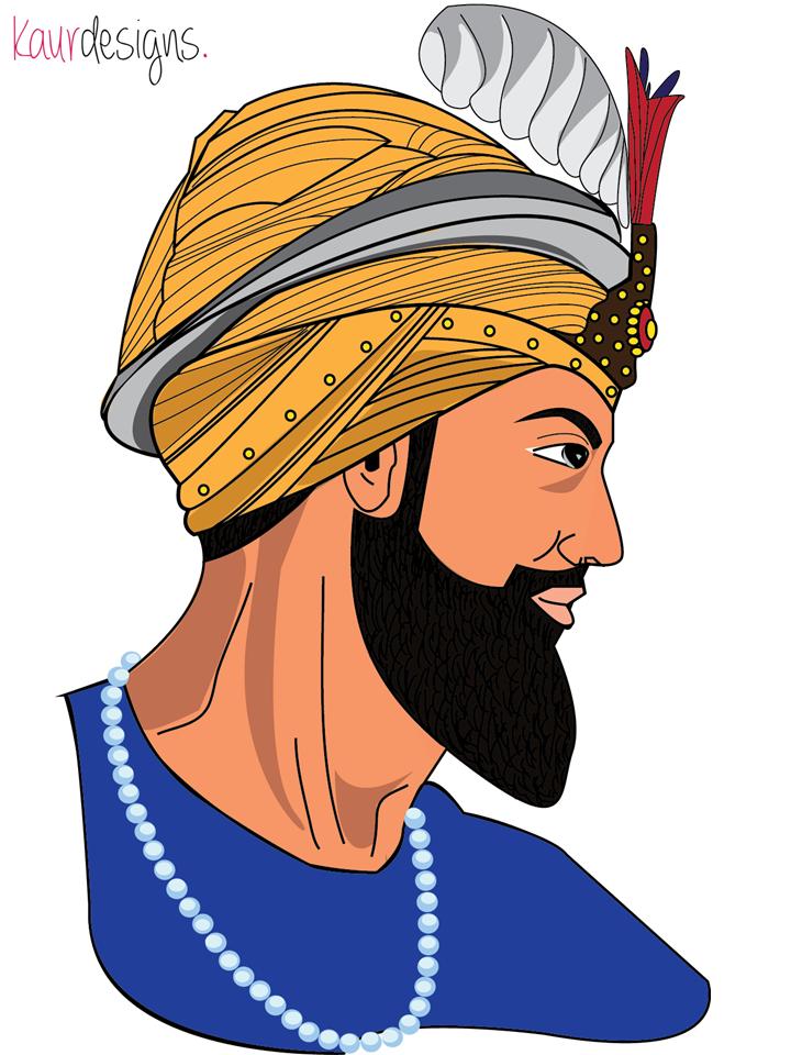 Guru gobind singh clipart banner stock Har Guru Gobind Singh Ji- By Kaur Designs | Sikh Art | Graphic ... banner stock