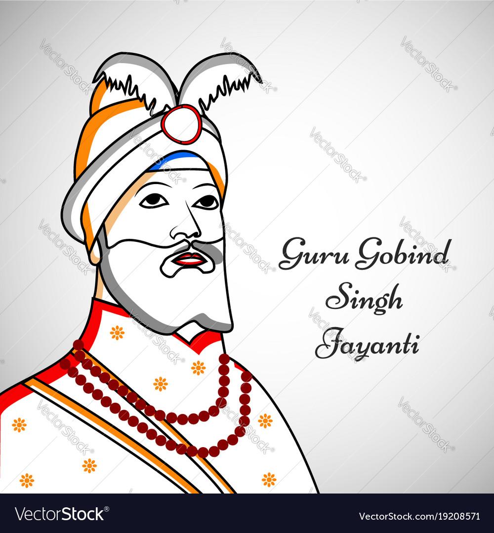 Guru gobind singh clipart clip black and white library Guru gobind singh jayanti vector image clip black and white library