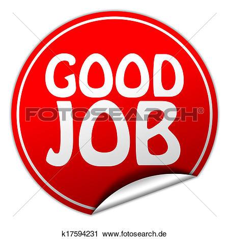 Gute arbeit clipart png Clipart - gute arbeit, runder, rot, aufkleber, weiß, hintergrund ... png