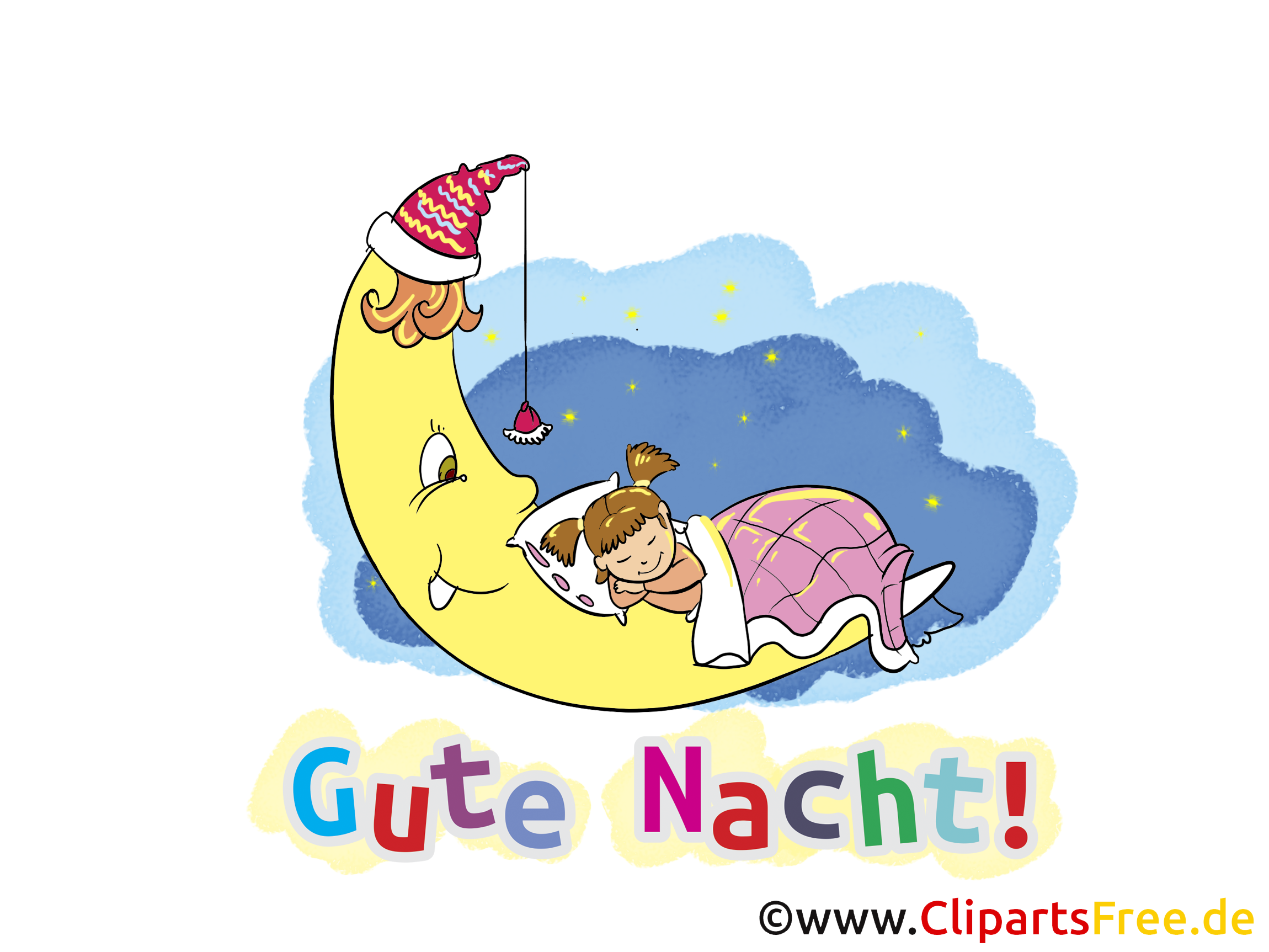 Gute nacht clipart clipart black and white download Gute Nacht Wünsche zum Versenden clipart black and white download