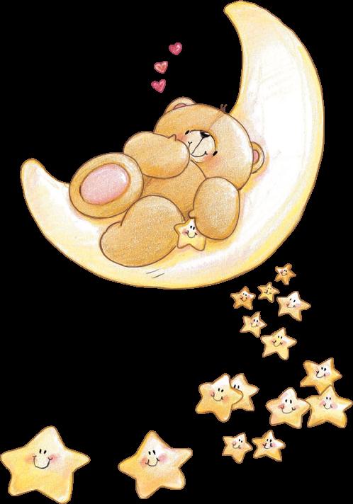 Gute nacht clipart bilder jpg library stock ♡ Forever Friends tjn | PNG | Pinterest | Gute nacht, Nacht und Bären jpg library stock