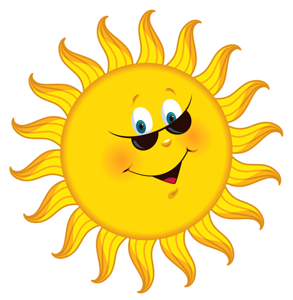 Sun holding a sign clipart free black and white library Good Morning! (no words -