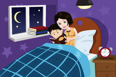 Gute nacht geschichte clipart clip art black and white stock Bedtime Stock Illustrations – 2,927 Bedtime Stock Illustrations ... clip art black and white stock