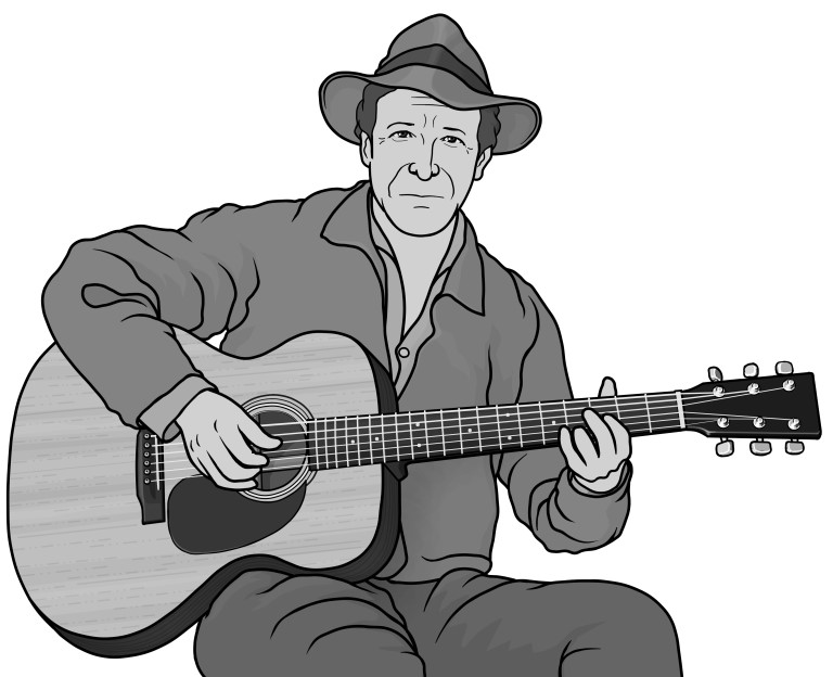 Guthrie clipart freeuse library guitar / Woody Guthrie freeuse library