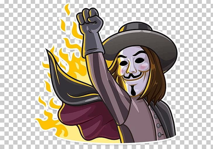 Guy fawkes clipart png royalty free stock Sticker Telegram Guy Fawkes Mask Illustration PNG, Clipart ... png royalty free stock