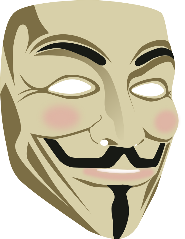 Guy fawkes mask clipart png black and white library Free Clipart: Guy Fawkes mask (3d)   rones png black and white library