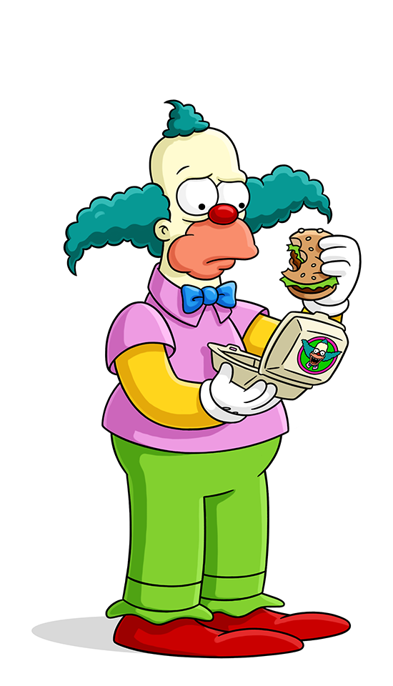 Jester laughing crown clipart black and white png freeuse Krusty the Clown | Simpsons Wiki | FANDOM powered by Wikia png freeuse