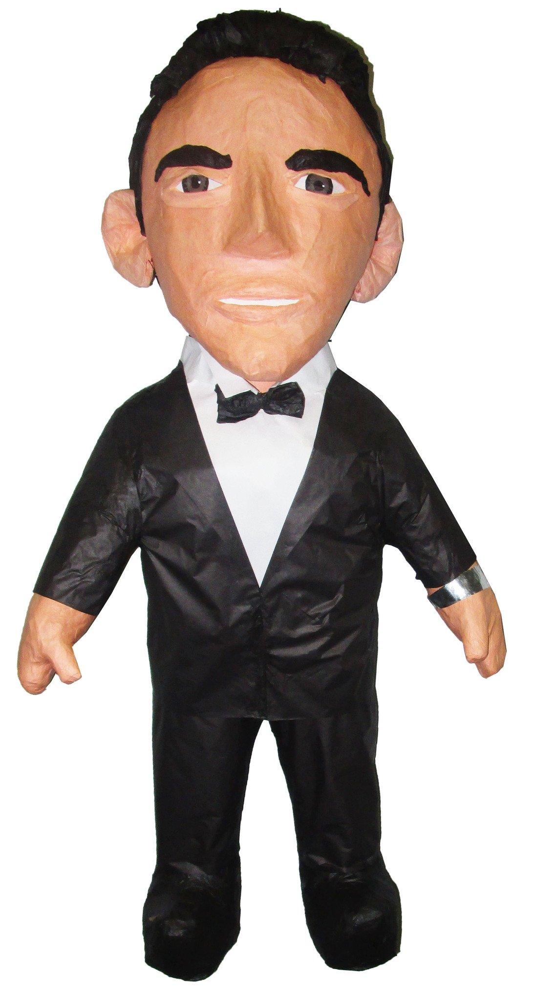 Guy in a tuxedo holding a trimmer clipart vector Man in Tuxedo Custom Pinata vector