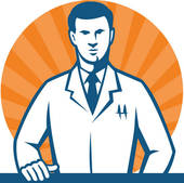 Guy in labcoat clipart banner black and white stock Lab Coat Clip Art - Royalty Free - GoGraph #309319 - Clipartimage.com banner black and white stock
