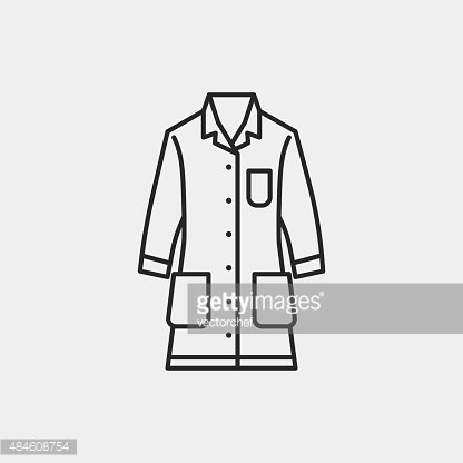 Guy in labcoat clipart graphic freeuse library Lab Coat Line Icon premium clipart - ClipartLogo.com graphic freeuse library