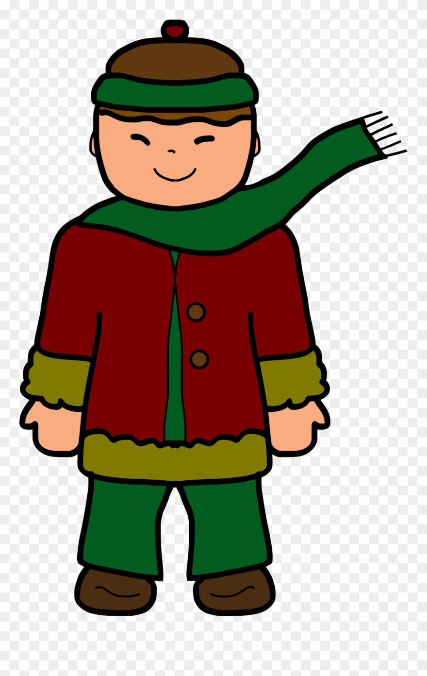 Guy in winter clothes clipart clip art transparent download Diner Clipart Kid - Boy In Winter Clothes Clipart - Png Download ... clip art transparent download