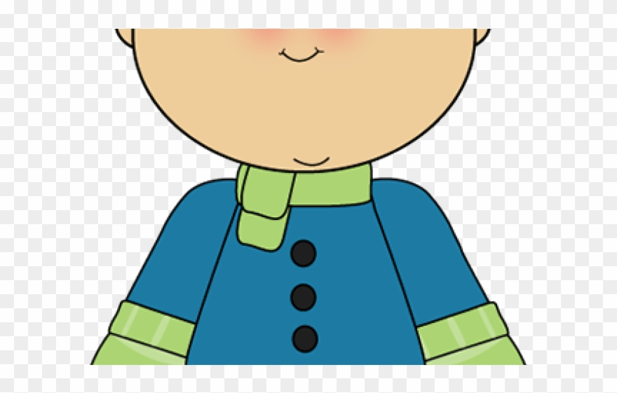 Guy in winter clothes clipart graphic download Scarf Clipart Winter - Kid In Winter Clothes Clipart - Png Download ... graphic download