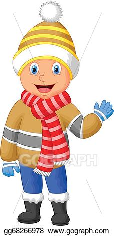 Guy in winter clothes clipart clipart free download Clip Art Vector - Cartoon a boy in winter clothes wav. Stock EPS ... clipart free download