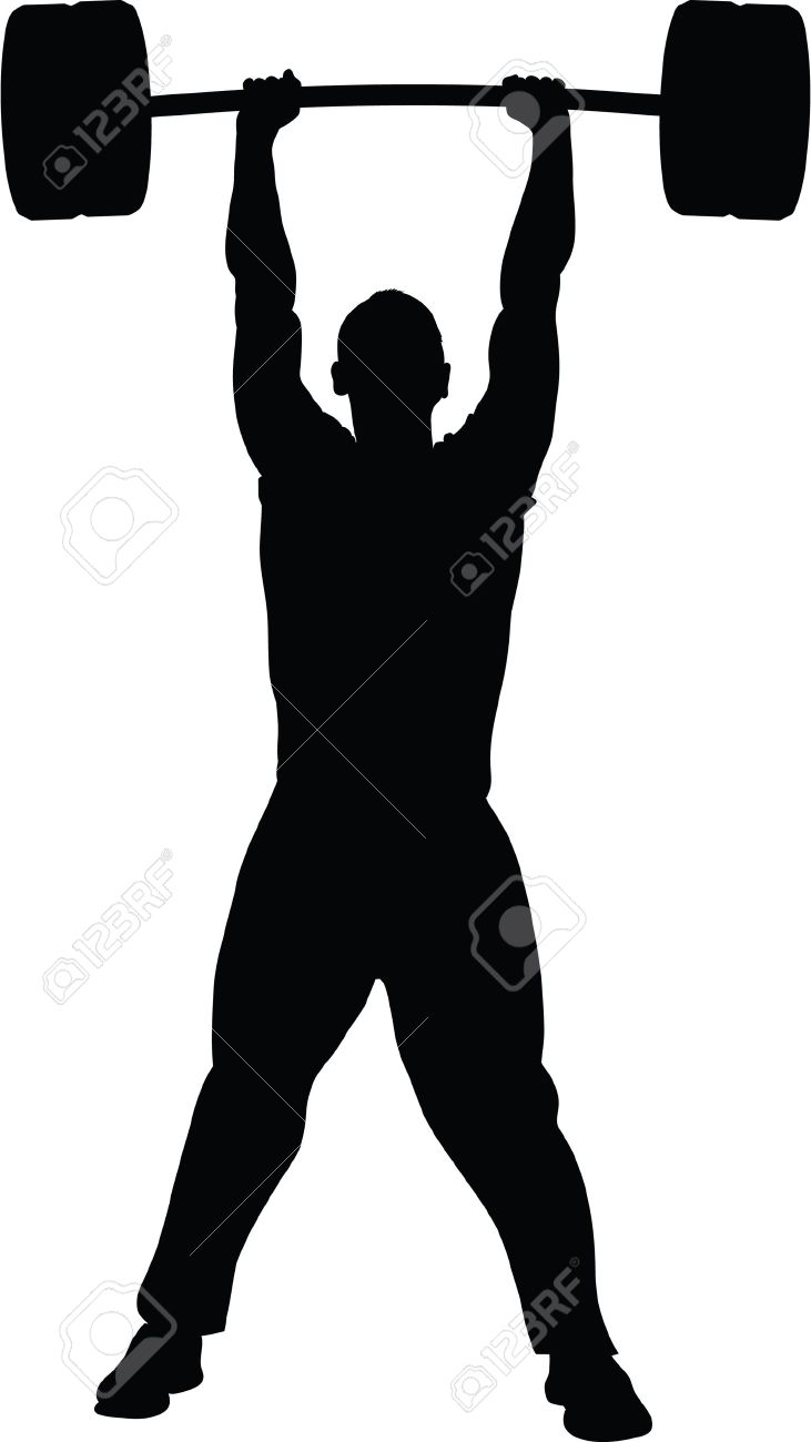 Guy lifting weights clipart png black and white stock Man lifting weights clipart 5 » Clipart Station png black and white stock