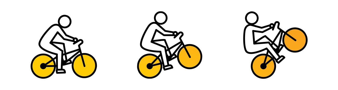 Guy on bike popping a wheelie clipart svg black and white How to Wheelie on a Bicycle • Gear Patrol svg black and white