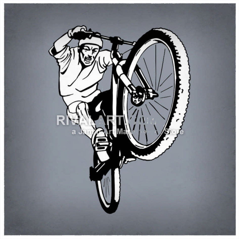 Guy on bike popping a wheelie clipart png freeuse Bike Rider Popping A Wheelie png freeuse