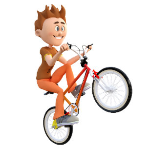 Guy on bike popping a wheelie clipart png download Bike Wheelie Gifts on Zazzle png download