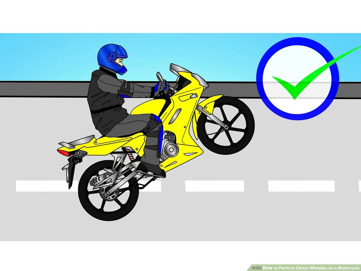 Guy on bike popping a wheelie clipart clip art library download How to Perform Clutch Wheelies on a Motorcycle: 10 Steps clip art library download