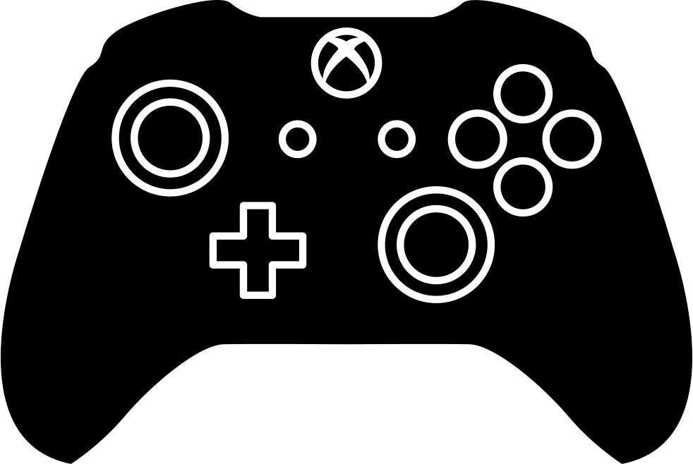 Video game controller silhouette clipart clip black and white Xbox One controller Xbox 360 controller Game Controllers - game ... clip black and white