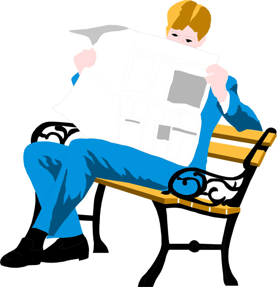 Guy reading book clipart graphic library download Reading Bench | Free Stock Photo | Illustration of a man reading a ... graphic library download