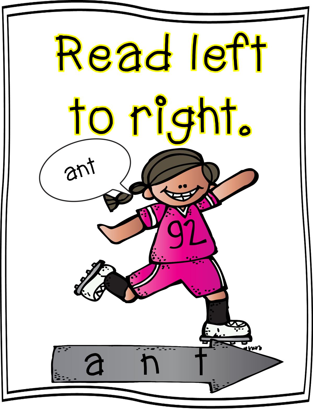 Guy suprised reading a book clipart banner royalty free library Word Strategy Posters | First Grade Wow | Bloglovin' banner royalty free library