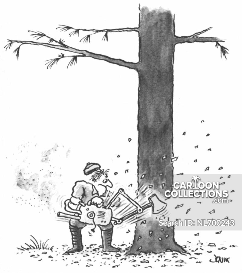 Guy trying to cut wood clipart clip royalty free stock Cutting Down Trees Cartoons and Comics - funny pictures from ... clip royalty free stock