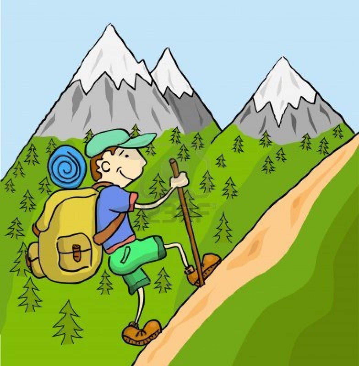 Guy walking up hill clipart image Free Couple Hiking Cliparts, Download Free Clip Art, Free Clip Art ... image