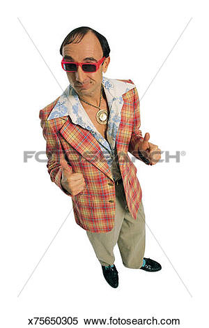 Guy with thumbs up clipart clip Stock Image of Cheesy guy in leisure suit giving thumbs up ... clip
