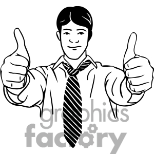 Guy with thumbs up clipart banner black and white stock Clipart two thumbs up - ClipartFest banner black and white stock