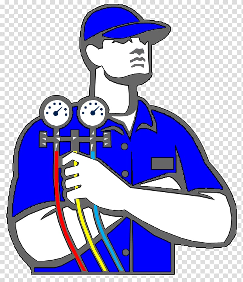 Guy working on air conditioner clipart sketch clipart freeuse Man holding gauge illustration, Air conditioning Technician HVAC ... clipart freeuse