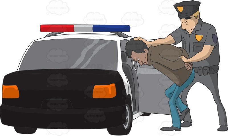 Guys putting man into back of pickup truck clipart banner Police officer arresting an African American man and putting him in ... banner