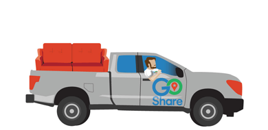 Guys putting man into back of pickup truck clipart graphic transparent library Delivery, Truck Rental, Moving Companies, Movers, Shipping | GoShare graphic transparent library