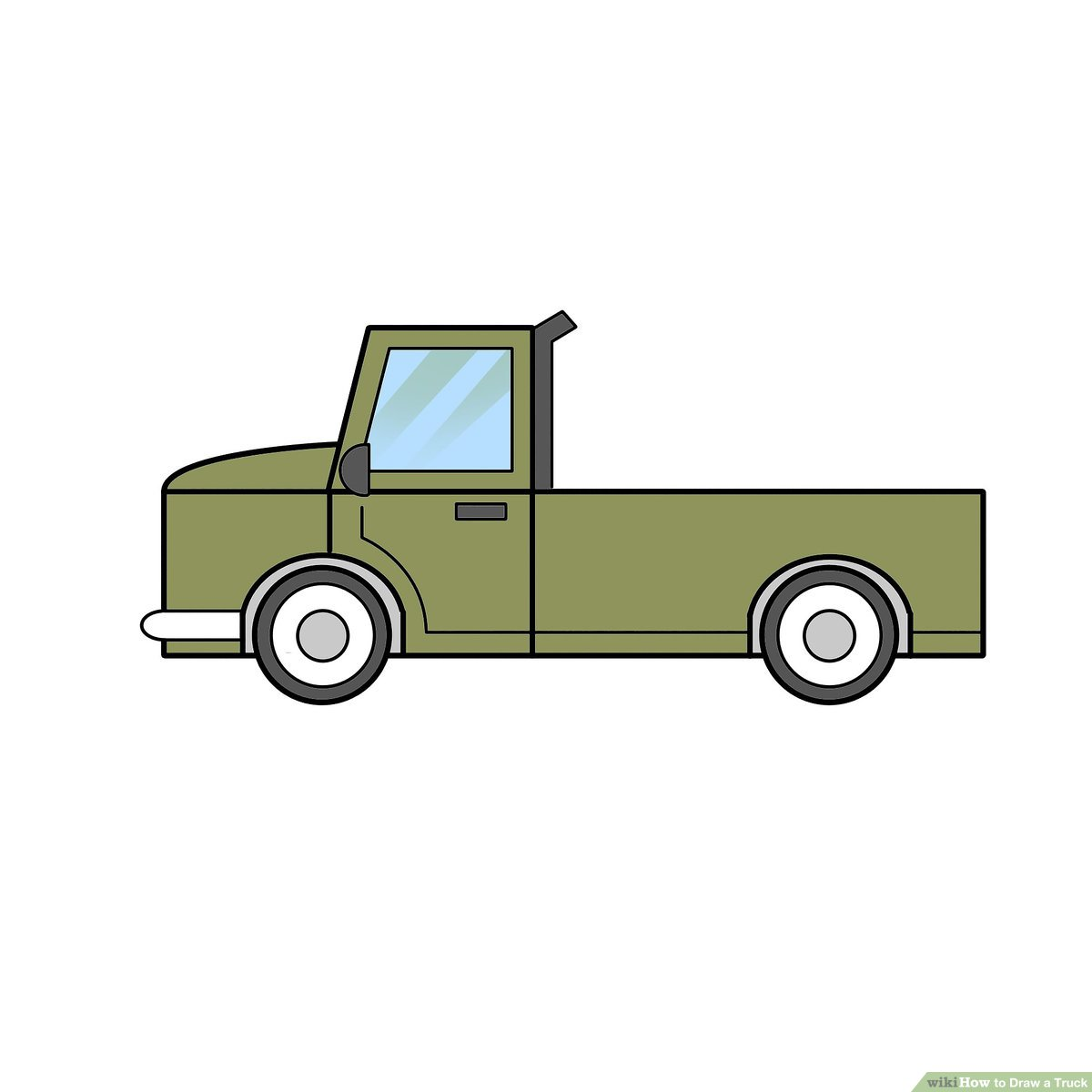 Guys putting man into back of pickup truck clipart graphic transparent stock 2 Easy Ways to Draw a Truck (with Pictures) - wikiHow graphic transparent stock